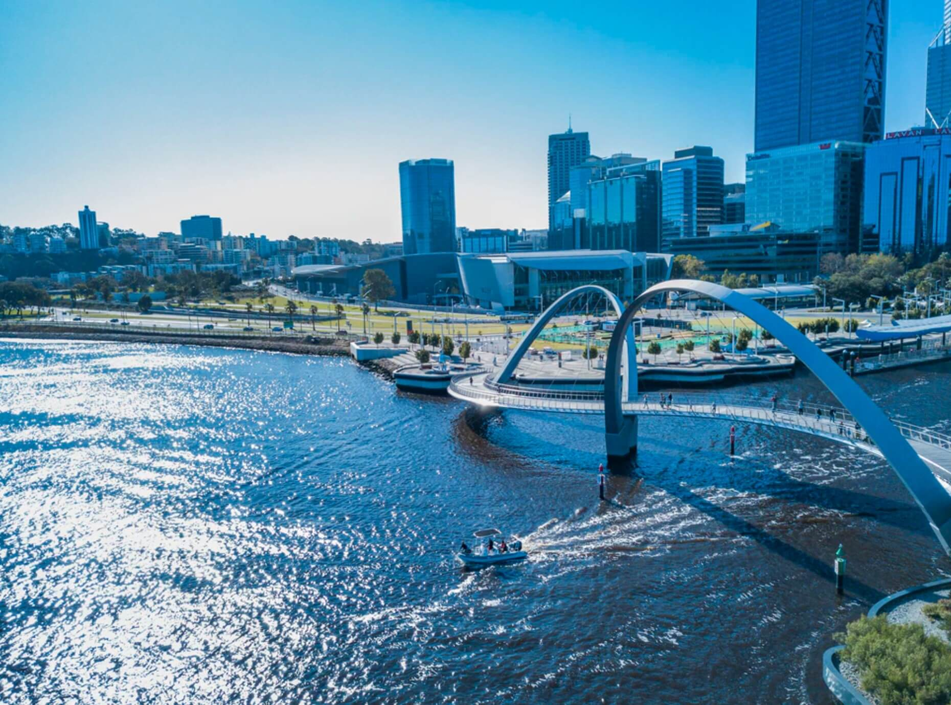 Perth city and river